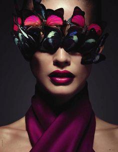 Beauty Editorial by Julia Saller for Elle Ukraine August 2012