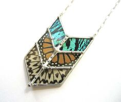 Chevron Geometric Butterfly Necklace. This store has some fabulous jewellery