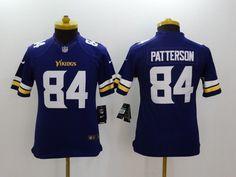 youth minnesota vikings 84 patterson purple 2014 nike limited jerseys