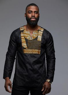 Style Inspired by traditional African attire, our Dakari African print trad shirts are perfect to represent your heritage in a modern way! African American Fashion, African Print Fashion, Africa Fashion, African Fashion For Men, African Prints, Modern African Clothing, African Clothing For Men, African Print Shirt, African Shirts For Men