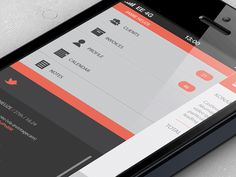 Love the orange and gray iOS layout found on Dribbble.