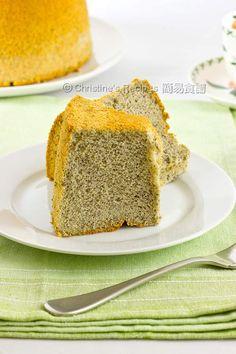 Black Sesame Chiffon Cake from Christine's Recipes