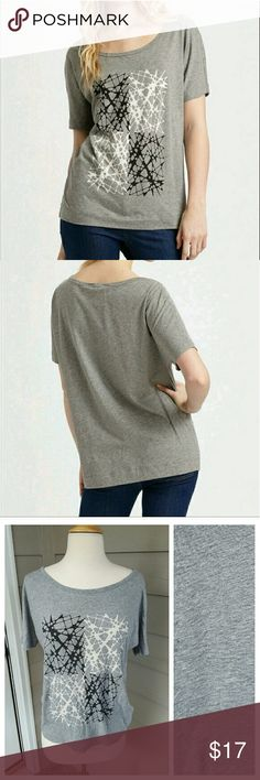 Marc Jacobs Gray Pixel Glass Tee Soft and comfortable gray tee!  By Marc by MARC Jacobs!  Cute modern design on 100% Pima cotton fabric!  Slight dolman sleeves!  Slightly loose fit!  Thanks for shopping! Marc by Marc Jacobs Tops Tees - Short Sleeve