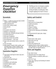 Earthquake Preparedness Checklist    #LDSemergencyresources #MormonLink