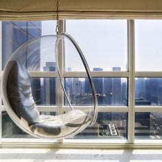Suspended Bubble Chair for soaking in the spectacular view.