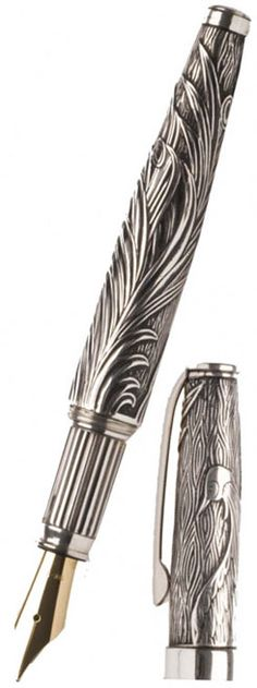 Urso Phoenix Old Style Fountain Pen Sterling Silver Quill And Ink, Luxury Pens, Fine Pens, Pen Collection, Best Pens, Calligraphy Pens, Dip Pen, Writing Pens, Fountain Pen Ink