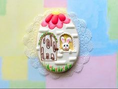 Easter egg - Bunny house cookie. - YouTube