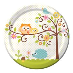 Owl Party Paper Luncheon Plates