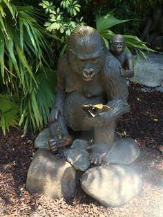 Gorilla statue in Busch Gardens,Tampa, FL