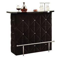 Okhtyrka Black Velvet Bar Table