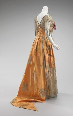 Evening dress Design House: House of Worth (French, 1858–1956) Designer: Attributed to Jean-Philippe Worth (French, 1856–1926) Designer: Attributed to Jean-Charles Worth (French, 1881–1962) Date: 1910–14 Culture: French