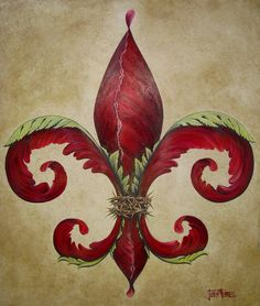 Flower Of New Orleans Crimson Painting