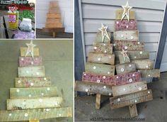 DIY Wood Pallet Christmas Trees