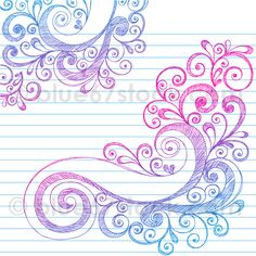 Hand-Drawn Abstract Sketchy Swirl Doodle Drawing Vector Illustration by blue67stock.com by blue67design, via Flickr