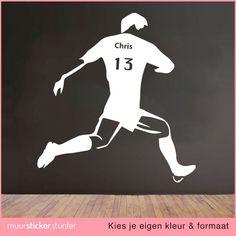 en Formaat Voetballer Eigen Naam muursticker. Wij maken de muursticker ...