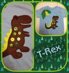 Fieltro, botones y amor por T-Rex