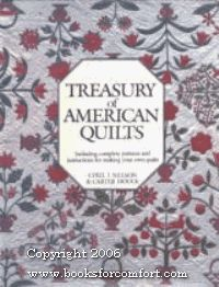 Treasury of American Quilts: Hardback book, dust jacket, 272 pages, color photos.