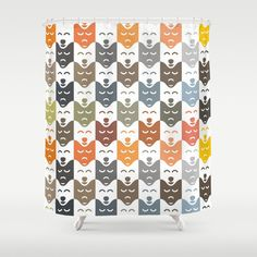 #dogs #pattern #husky #animal #pet #graphic #dog #fashion #style #colorful #color #colors #shower #curtain