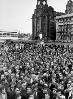 An poster sized print, approx (other products available) - A general view of the mass meeting of Liverpool dockers at the pier-head there. - Image supplied by PA Images - poster sized print mm) made in Australia Liverpool Town, Liverpool Docks, Liverpool History, Liverpool Cathedral, Power To The People, National Photography, Poster Size Prints, Photo Mugs, Photo Gifts