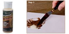 How to use DecoArt Antiquing and Staining Medium
