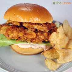 Salt and Vinegar Chicken Sandwich by Michael Symon! #TheChew