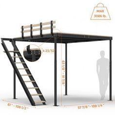 Deciding to Buy a Loft Space Bed (Bunk Beds). – Bunk Beds for Kids Loft Room, Bedroom Loft, Bedroom Decor, Bed Room, Mezzanine Bedroom, Attic Bedrooms, Bunk Beds With Stairs, Kids Bunk Beds, Loft Bed Stairs