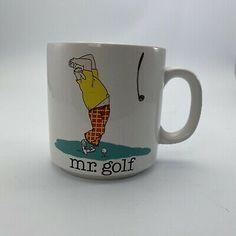 "Vintage Papel Jim Benton ""Mr. Golf"" Coffee Cup Ceramic Mug  Dad  Father  | eBay West Jordan, Vintage Cartoon, Coffee Cups, Father, Dads, Golf, Ceramics, Tableware, Chips"