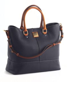 Dooney & Bourke Dillen Chelsea Leather Shopper Tote Bag NAVY