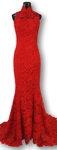 Red lace gown (this was the initial plan before the tailor said my body doesnt fit this model lol)