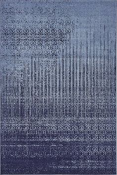 6 feet by 9 feet (6' x 9') Del Mar Blue Area Rug
