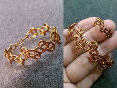 Simple knot bracelet - How to make wire jewelery 236 - YouTube