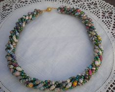 Paper Bead Necklaces | Paper Beads Torsade Necklace | Paper Beads & Jewelry