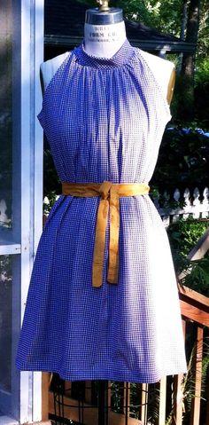 Auburn football game day dress.....Michelle gingham Aline sleeveless dress by RysaRuth on Etsy, $49.00