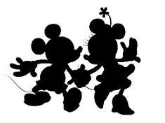 siluetas - Mickey and Minnie