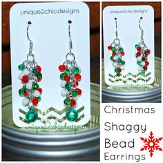 Christmas Jewelry Christmas Earrings Winter by Unique2chicdesigns