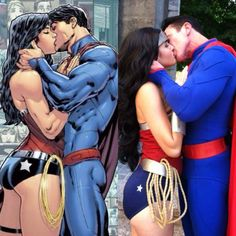 Superman and Wonder Woman couples Costume Idea.