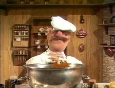 The Swedish Chef and Don Knotts attempt to make fish chowder using a live fish.