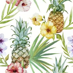 Pineapple Paradise | Removable Wallpaper | WallsNeedLove