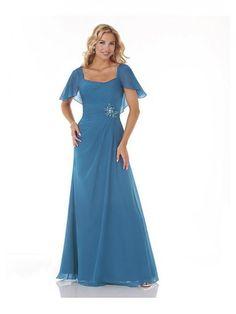 Alluring Chiffon Square Neckline Floor-length A-line Evening Dress