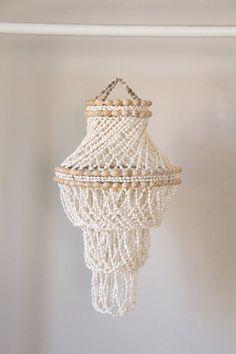 Vintage Handmade Shell Chandelier