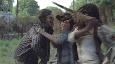 """Carl and Michonne The Walking Dead """"No Sanctuary"""" 5x01"""