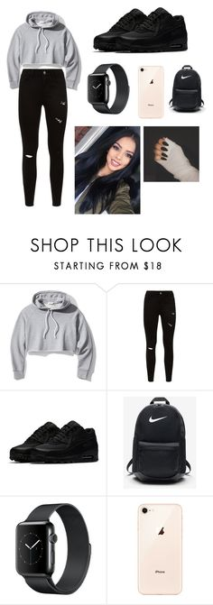 """""""Untitled #13"""" by zhanaewoods on Polyvore featuring Frame and NIKE"""