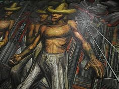 Segment of 'The Land, like the Water and the Industry, Belong to Us' mural (1959) by Mexican artist David Alfaro Siqueiros (1896-1974). via Hub Pages