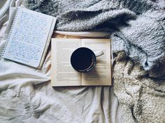 Book, coffee and cozy vibes