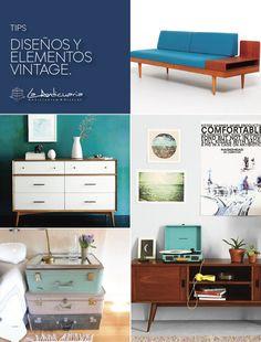 Lo mejor del diseño y elementos vintage. #Anticuaria