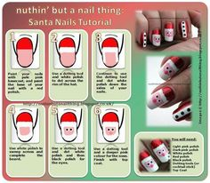How to make santa nails nail art crafts