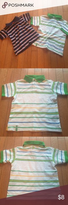 💙IZOD & ENYCE polo shirt set💚 New condition, the ENYCE polo has never been worn and the IZOD polo was worn only once💚 IZOD polo shirt with ❤️red, white and blue💙 stripes in size 24 months and ENYCE polo shirt with 💚green, white, yellow💛 and blue💙 stripes in size 18 months. The IZOD shirt runs a little smaller than the ENYCE shirt so I would actually flip the sizes around on them💛 both 100% cotton❤️ 🚭 & 🐶🐱 free home IZOD/ENYCE Shirts & Tops Polos