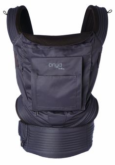 Onya Baby Carrier NexStep - Java. Ergonomic soft structured baby carrier with 3 carrying positions: Front, back and hip. Exclusive feature: Integrated chair harness transforms adult chair into a safe seat for baby. Use from newborn (starting at 7 lbs) with baby booster (sold separately) to toddler (15-45 lbs). 100% recycled brushed polyester twill fabric and air-mesh lining. Tuck-away sleeping/rain/sun hood with UPF 50 + sun protection.