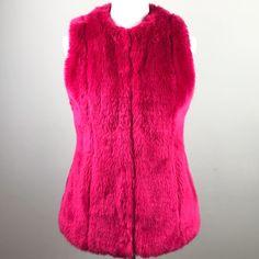 e5b9ed65707c My Boston Proper Pink Faux Fur Fuzzy Outerwear Vest Size 6 by Boston  proper. Size