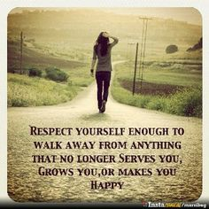 Walk away when it no longer makes you happy. There are plenty people out there who  would love to make you happy... :)